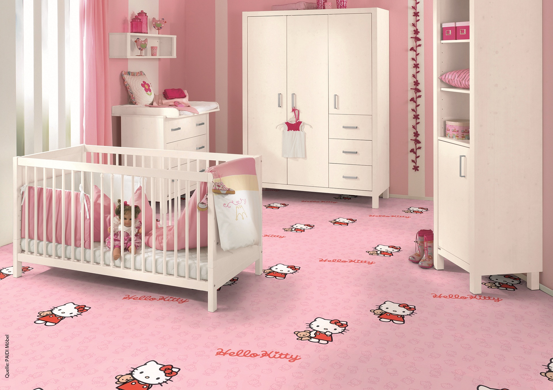 Korkboden hello kitty  Hello Kitty Korkparkett - Fußbodenbelag für Prinzessinnen